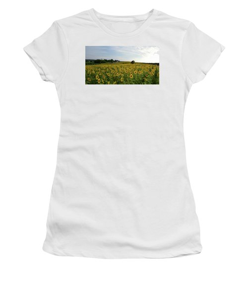 A Field Of Sunflowers Women's T-Shirt (Junior Cut) by Janice Adomeit