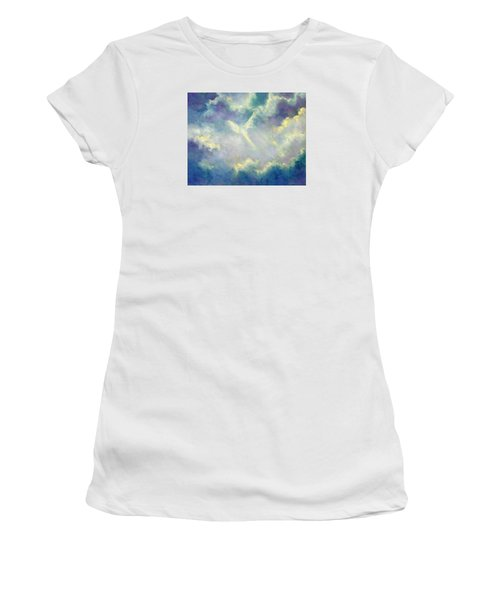 A Gift From Heaven Women's T-Shirt (Junior Cut) by Marina Petro