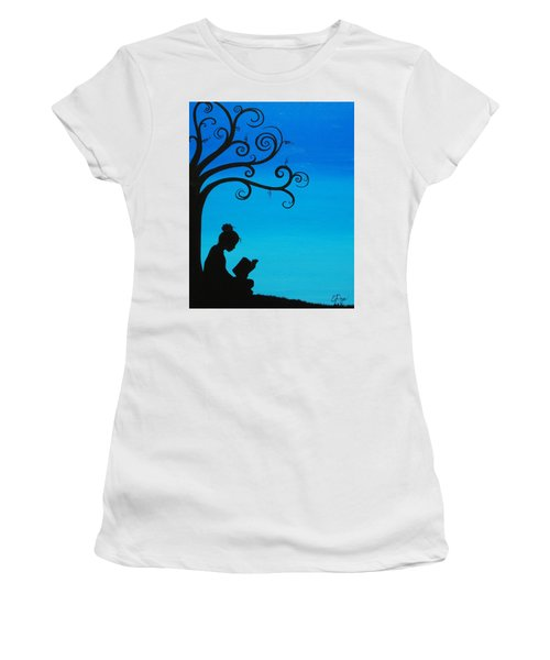 A Girl And Her Book Women's T-Shirt