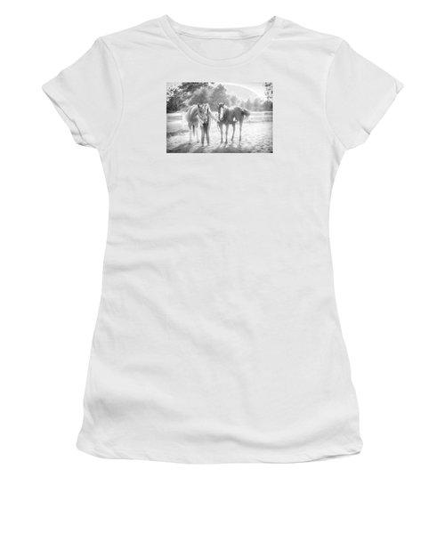 A Girl With Horses Women's T-Shirt (Junior Cut) by Kelly Hazel