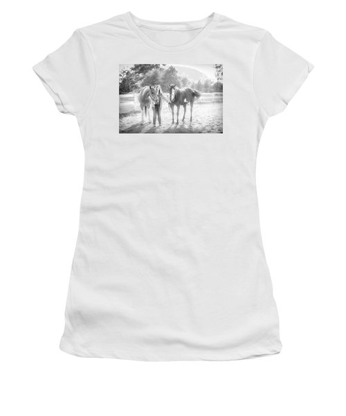 A Girl With Horses Women's T-Shirt
