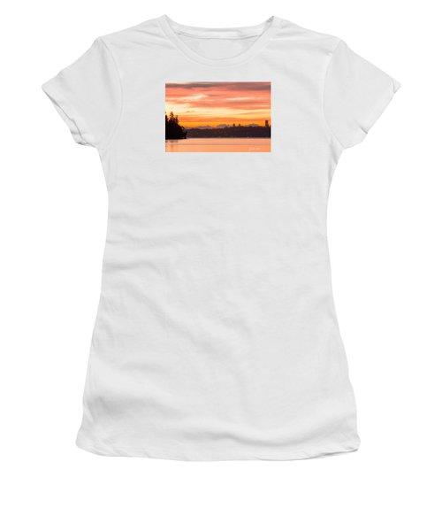 A Glaze Of Orange Women's T-Shirt (Junior Cut) by E Faithe Lester
