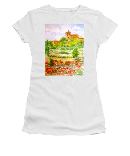 A Hillside Near San Gimignano Women's T-Shirt
