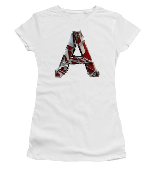 Women's T-Shirt featuring the photograph A Is For Apple by Gary Keesler