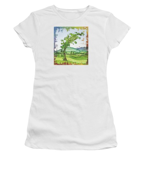 A Kale Leaf Visits The Country Women's T-Shirt (Athletic Fit)