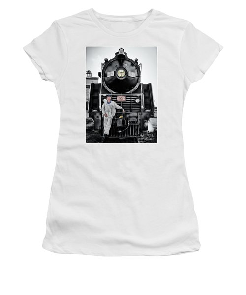 A Man And His Locomotive Women's T-Shirt (Athletic Fit)