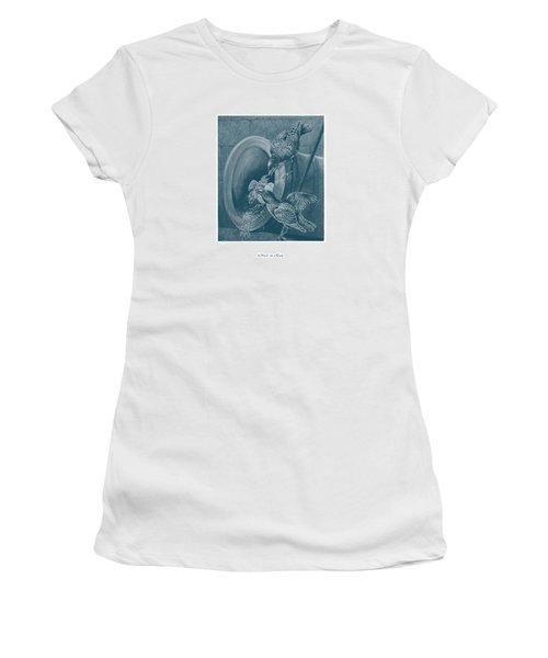 A Nest In A Gun Women's T-Shirt (Junior Cut) by David Davies