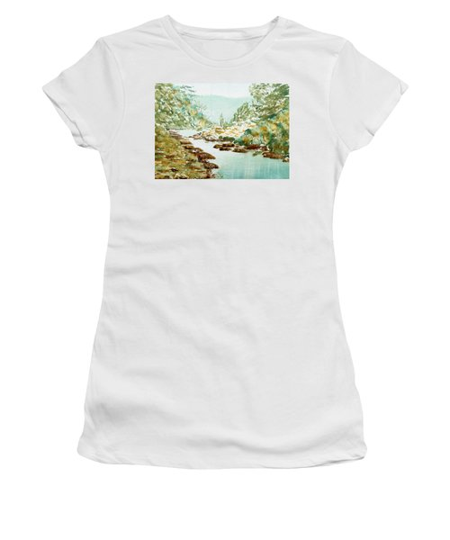 A Quiet Stream In Tasmania Women's T-Shirt (Athletic Fit)