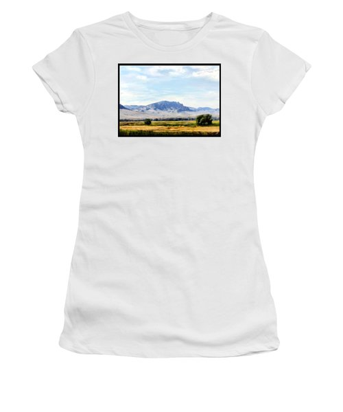 Women's T-Shirt (Junior Cut) featuring the painting A Sleeping Giant by Susan Kinney