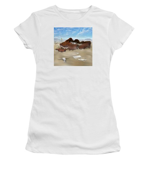 A Slow Death In Piano Valley Sq Women's T-Shirt (Junior Cut) by Mike McGlothlen