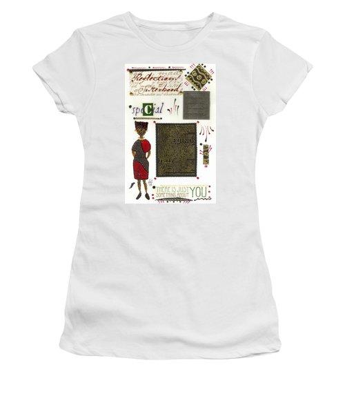 Women's T-Shirt (Junior Cut) featuring the mixed media A Special Friend by Angela L Walker