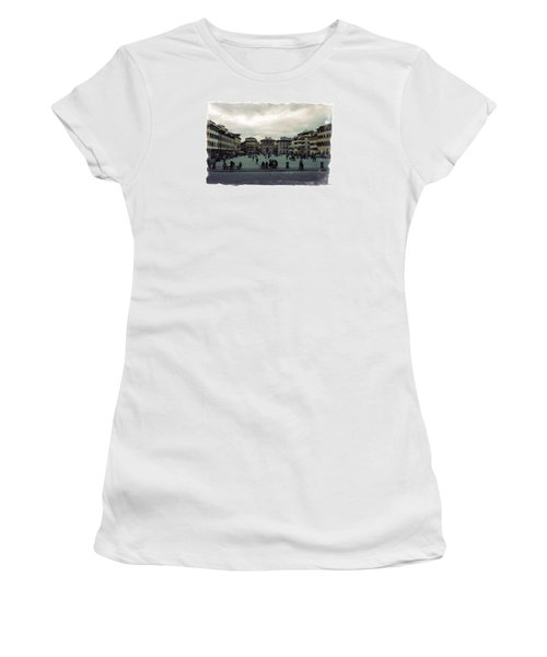 Women's T-Shirt (Junior Cut) featuring the photograph A Square In Florence Italy by Wade Brooks
