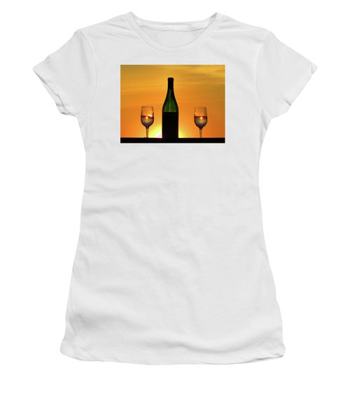 A Sunset In Each Glass Women's T-Shirt (Athletic Fit)