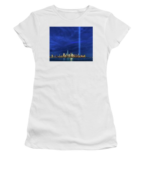 Women's T-Shirt (Athletic Fit) featuring the photograph A Tribute At Dusk by Chris Lord