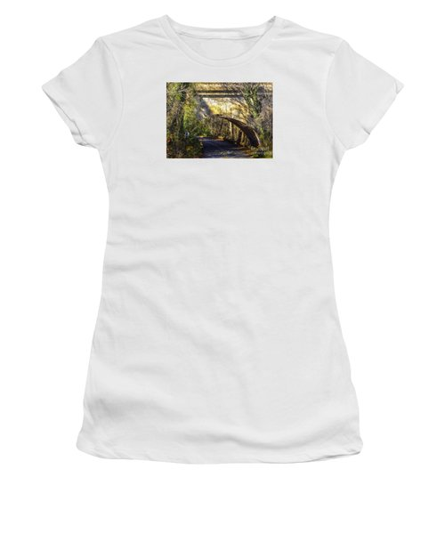 Women's T-Shirt (Junior Cut) featuring the photograph A Tunnel By The River by Melissa Messick