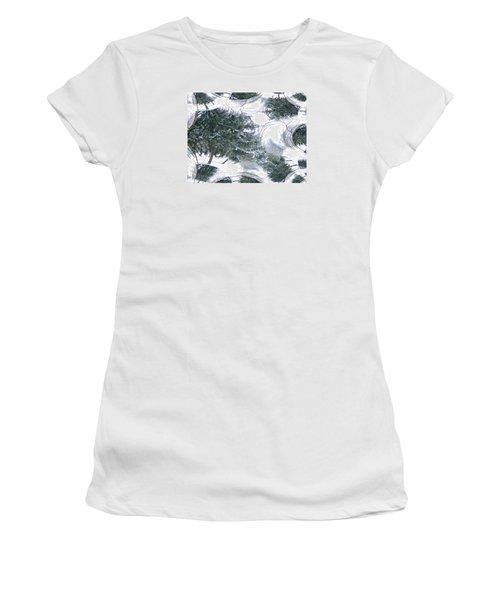 A Winter Fractal Land Women's T-Shirt (Athletic Fit)