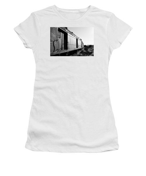 Abandoned Train Cars Women's T-Shirt