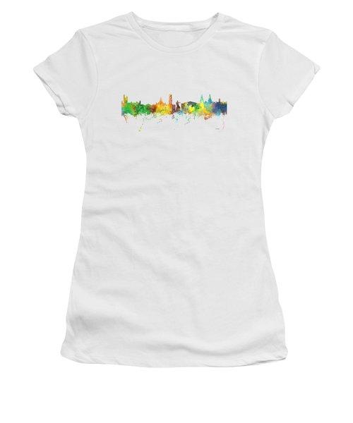 Aberdeen Scotland Skyline Women's T-Shirt (Junior Cut) by Marlene Watson