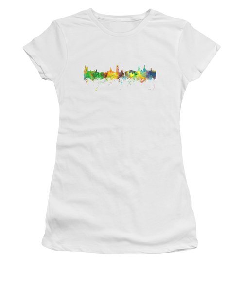 Aberdeen Scotland Skyline Women's T-Shirt (Athletic Fit)