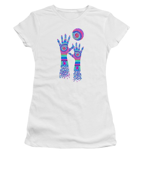Aboriginal Hands Pastel Transparent Background Women's T-Shirt (Athletic Fit)