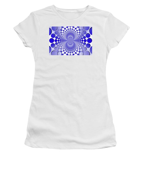 Abstract Blue And White Pattern Women's T-Shirt
