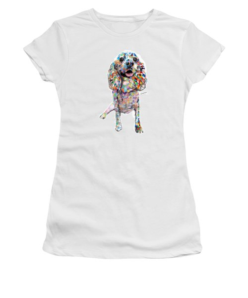 Abstract Cocker Spaniel Women's T-Shirt (Athletic Fit)