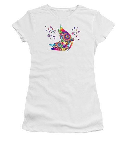 Abstract Colorful Butterfly Women's T-Shirt (Athletic Fit)