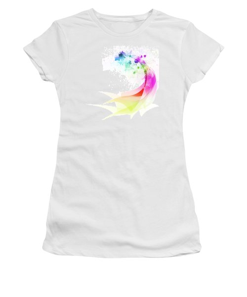 Abstract Colorful Curved Women's T-Shirt