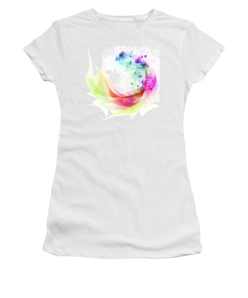 Abstract Curved Women's T-Shirt