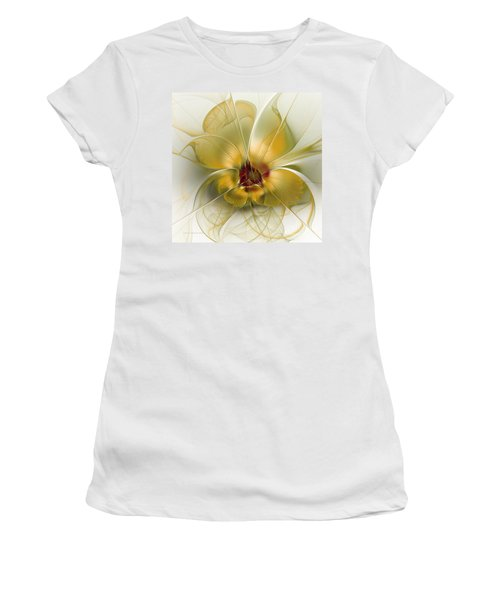 Abstract Flower With Silky Elegance Women's T-Shirt