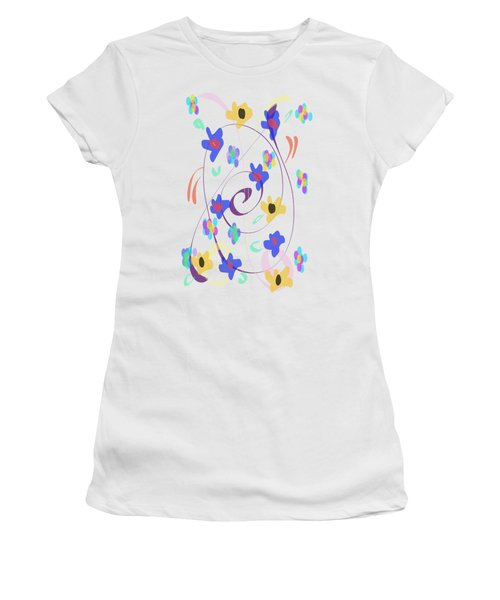 Abstract Garden Nr 7 Naif Style Women's T-Shirt