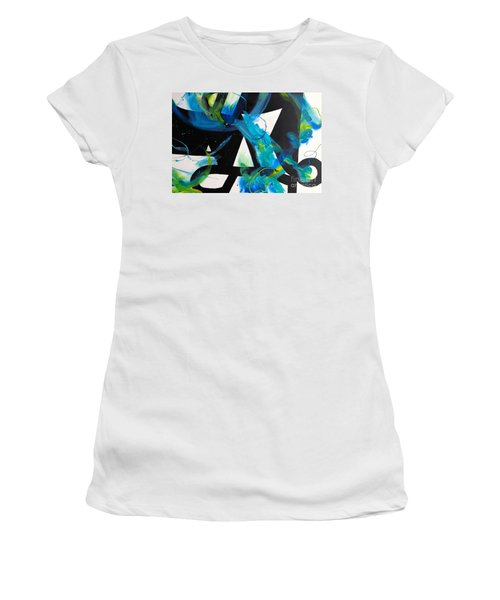 Study In Blue I Women's T-Shirt (Athletic Fit)
