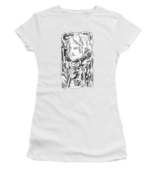 Abstract Ink Drawing Women's T-Shirt