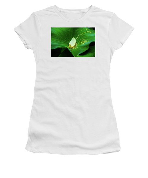 Abstract Leaves Of Green And Yellow Women's T-Shirt