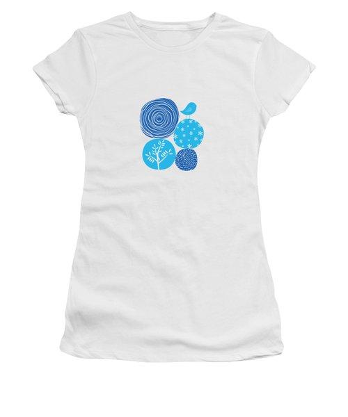 Abstract Nature Blue Women's T-Shirt