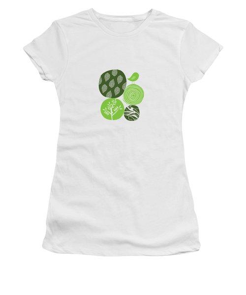 Abstract Nature Green Women's T-Shirt