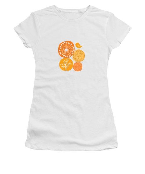 Abstract Nature Orange Women's T-Shirt