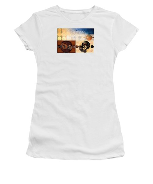 Abstract Painting - Dairy Cream Women's T-Shirt (Athletic Fit)