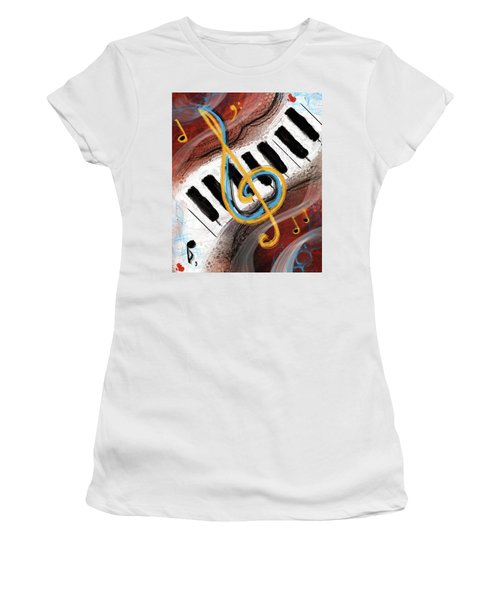 Abstract Piano Concert Women's T-Shirt