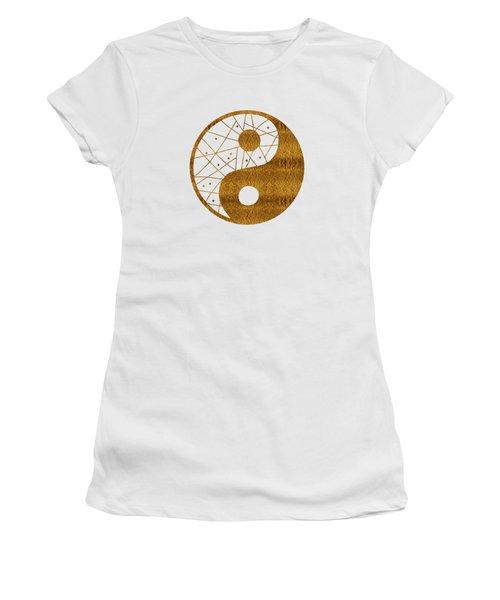 Abstract Yin And Yang Taijitu Symbol Women's T-Shirt