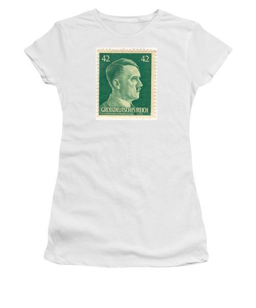 Adolf Hitler 42 Pfennig Stamp Classic Vintage Retro Women's T-Shirt (Athletic Fit)