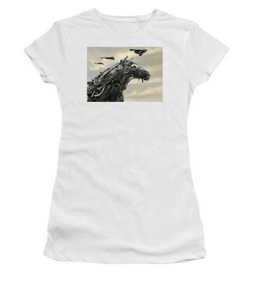 Advance Of The Machines Women's T-Shirt (Junior Cut) by Christopher McKenzie
