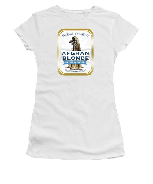 Afghan Blonde Premium Lager Women's T-Shirt (Athletic Fit)