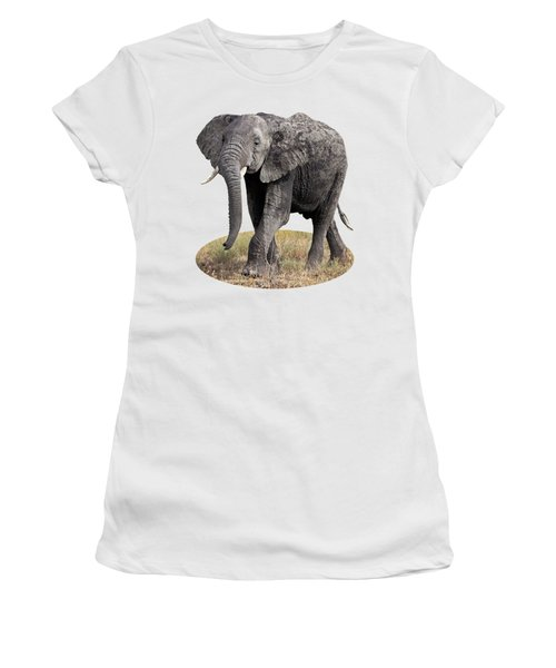 African Elephant Happy And Free Women's T-Shirt