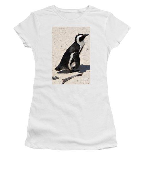 Women's T-Shirt (Junior Cut) featuring the digital art African Penguin 2 by Eva Kaufman