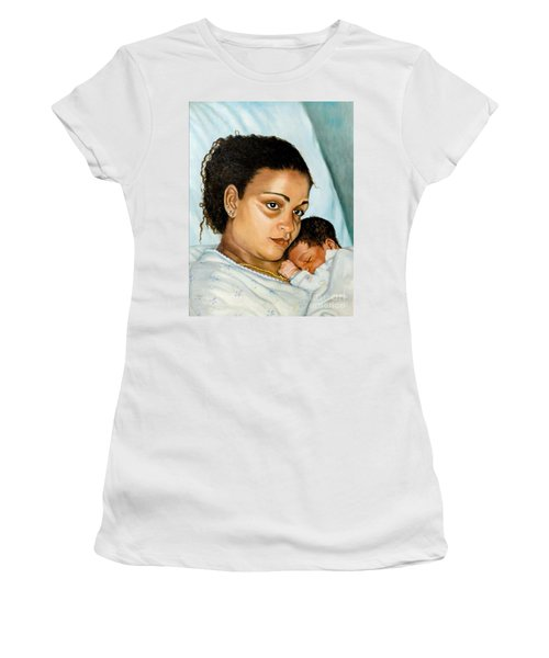 After Birth Jacina And Javon Women's T-Shirt (Junior Cut) by Marlene Book