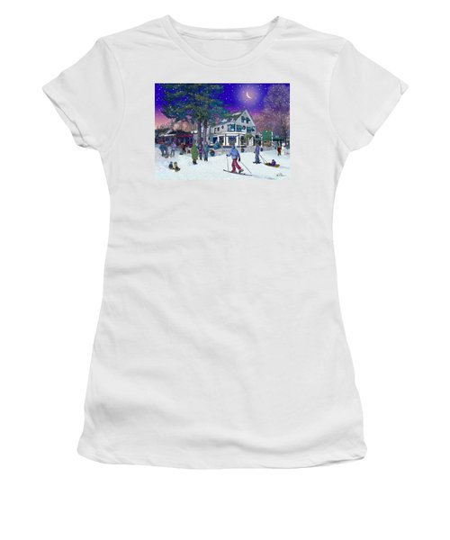 After The Storm At Woodstock Inn Women's T-Shirt (Junior Cut) by Nancy Griswold
