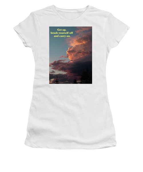 After The Storm Carry On Women's T-Shirt (Athletic Fit)