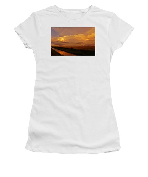 Women's T-Shirt (Athletic Fit) featuring the photograph After The Storm by Ed Sweeney