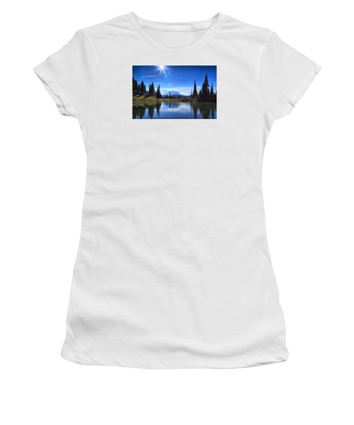 Women's T-Shirt (Junior Cut) featuring the photograph Afternoon Delight 2 by Lynn Hopwood